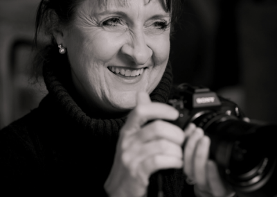 Hertfordshire photographer Natalie Chiverton with a camera