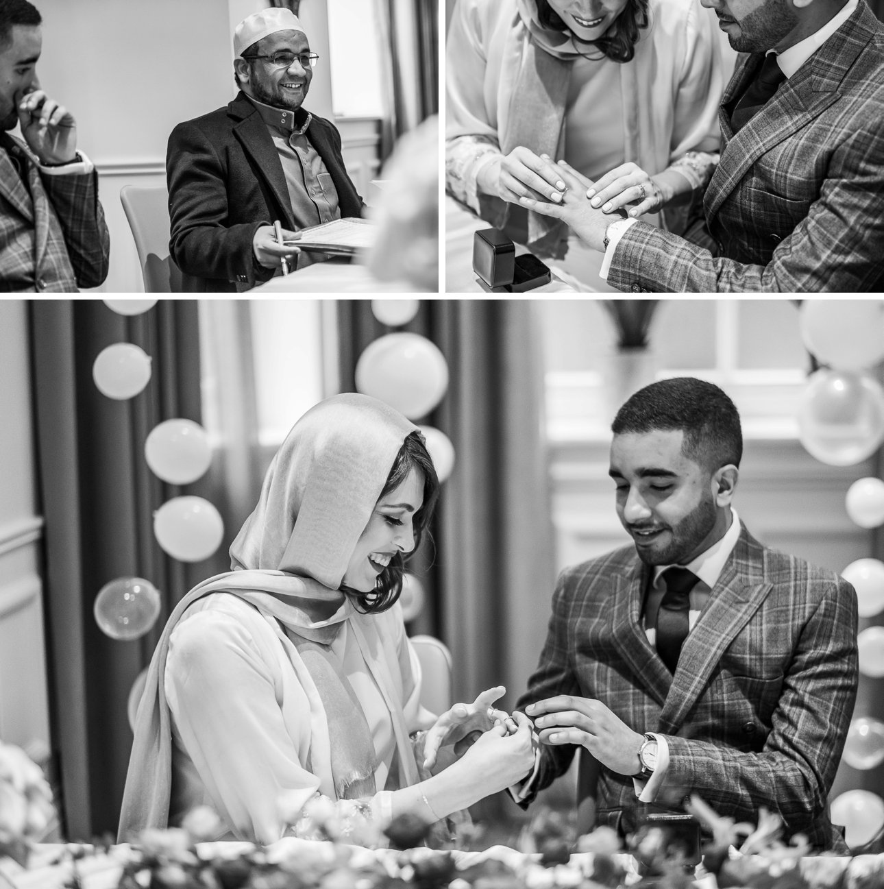 A muslim wedding ceremony at the Kimpton Fitzroy London.