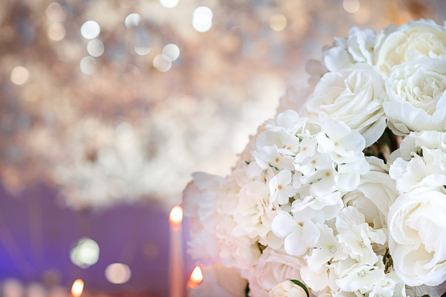 White wedding florals from So Special Occasions planners in the UK.
