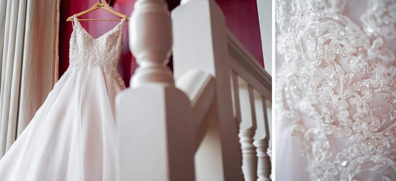 Paul Zeni bridal gown from Hampden Brides bridal shop in Southgate, north London.