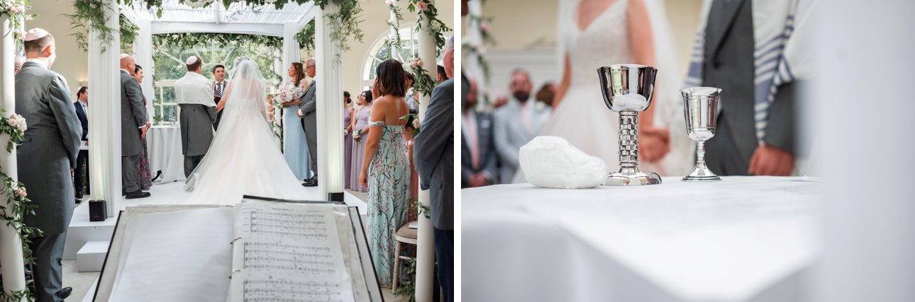 A Jewish wedding ceremony at Stapleford Park in Leicestershire.