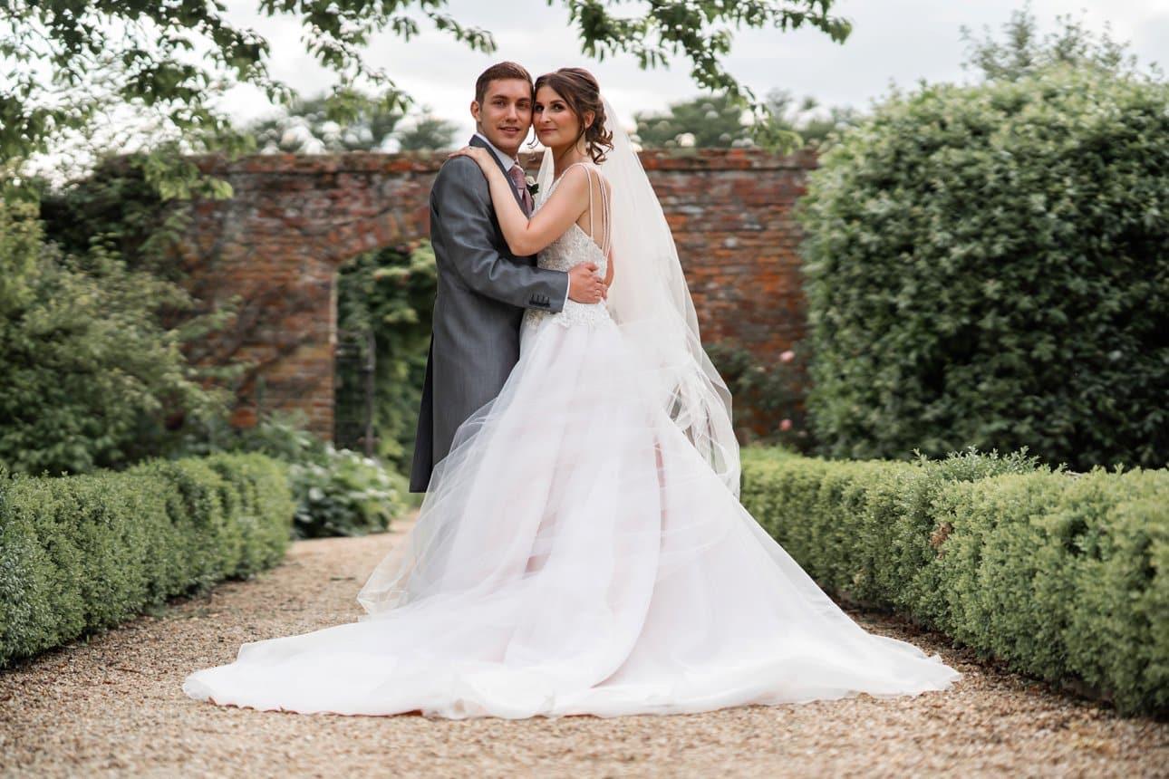 Stapleford Park wedding photo of the bride and groom.