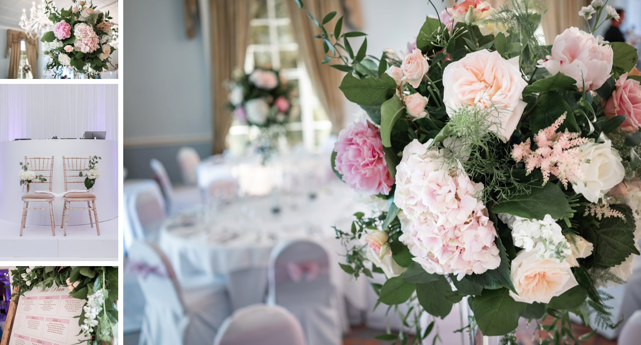 Pastel wedding flowers by Sophie's Flower Company near Grantham and Nottingham.