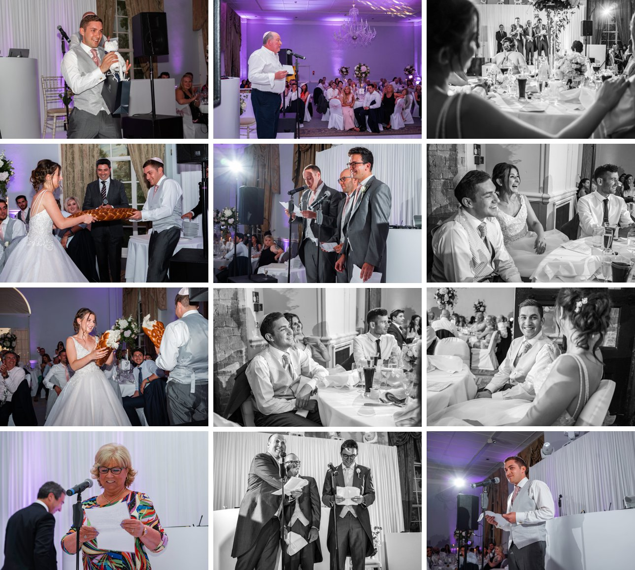 Speeches and fun wedding games at a Stapleford Park wedding.