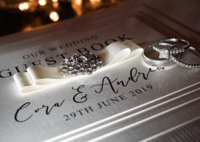 wedding-guest-book-and-diamond-wedding-rings