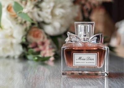 chanel-perfume-bottle-and-brides-flower-bouquet