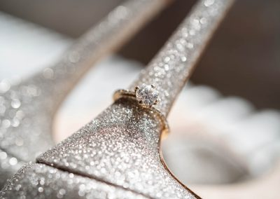 jimmy-choo-glittery-wedding-shoes-and-diamond-engagement-ring-on-heel