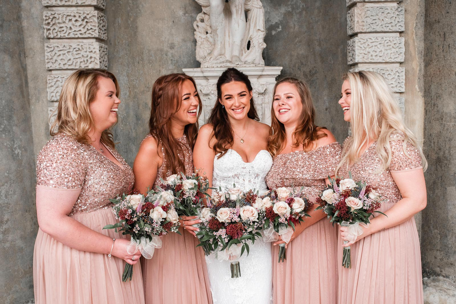 Bride-and-her-bridesmaids