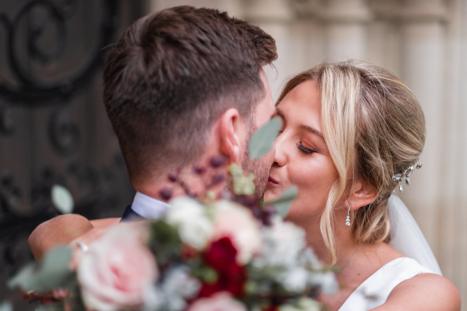 Hertfordshire Wedding Photographer Bride and Groom Kissing