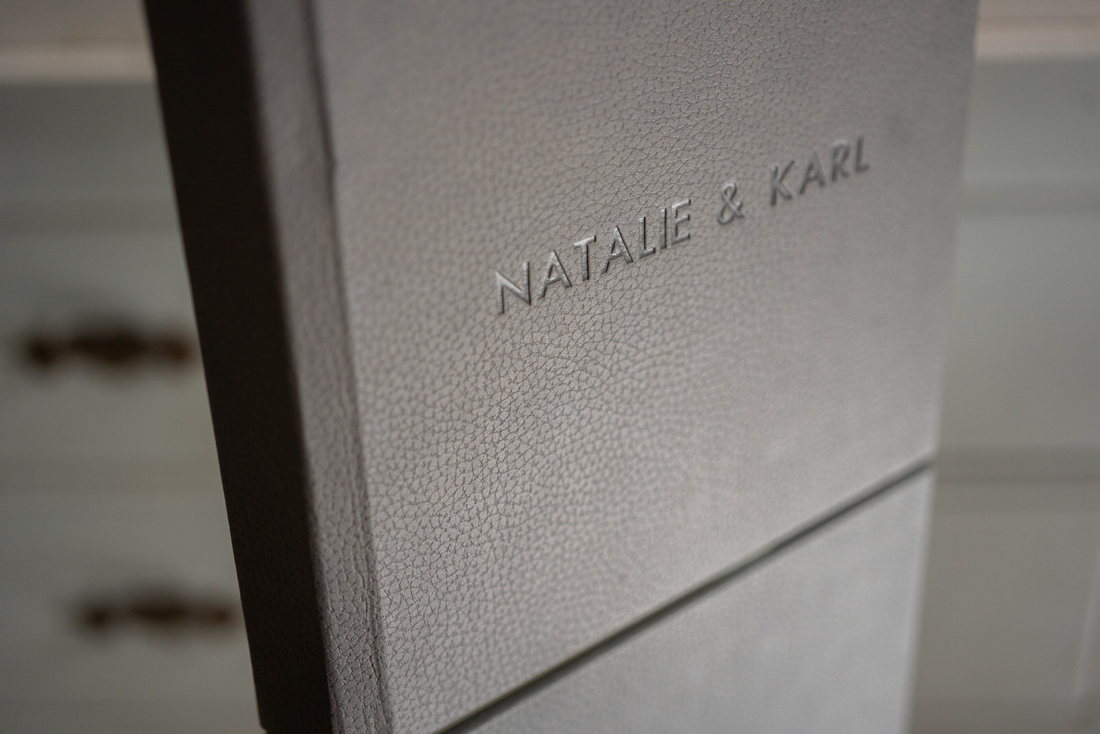 charcoal-gray-wedding-album