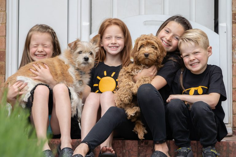 Children and their dogs