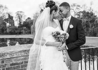 bride-groom-portrait-on-bridge-black-and-white
