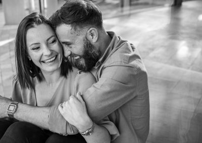 black-and-white-photo-engaged-couple-at-the-grove-hotel-hertfordshire