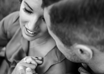 engaged-couple-moment-black-and-white-at-the-grove